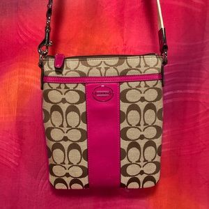 Fuchsia Coach Kitt Messenger Bag